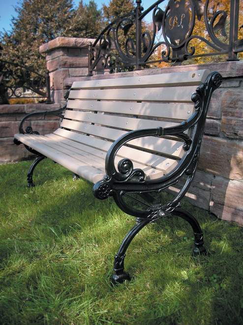 Victorian Bench with Backrest - Park