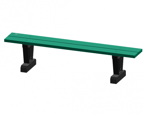 6' Park Series Straight Bench
