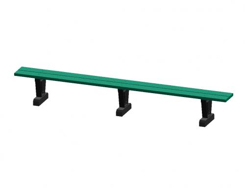 120' Park Series Straight Bench