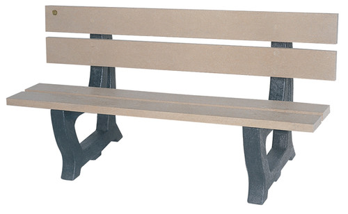 "5' Park Series Bench ""Deco"""