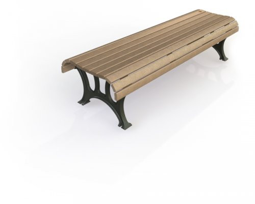 6' Notre Dame Straight Bench with Avantage+ slats