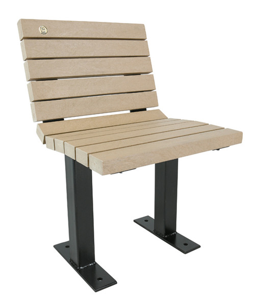 Single Seat Public Bench for Games Table, or on it's own