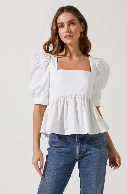 Sincerely yours peplum top