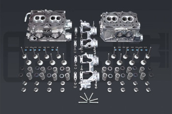 IAG Stage 2 EJ25 Pocket Ported Cylinder Head Package For WRX, STI, LGT, FXT