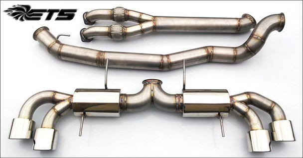 """ETS 4.0"""" (102mm) Stainless Steel Exhaust System for Nissan GT-R R35"""
