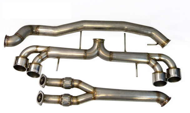 """ETS 4.0"""" (102mm) Stainless Steel *RACE* Exhaust System for Nissan GT-R R35"""