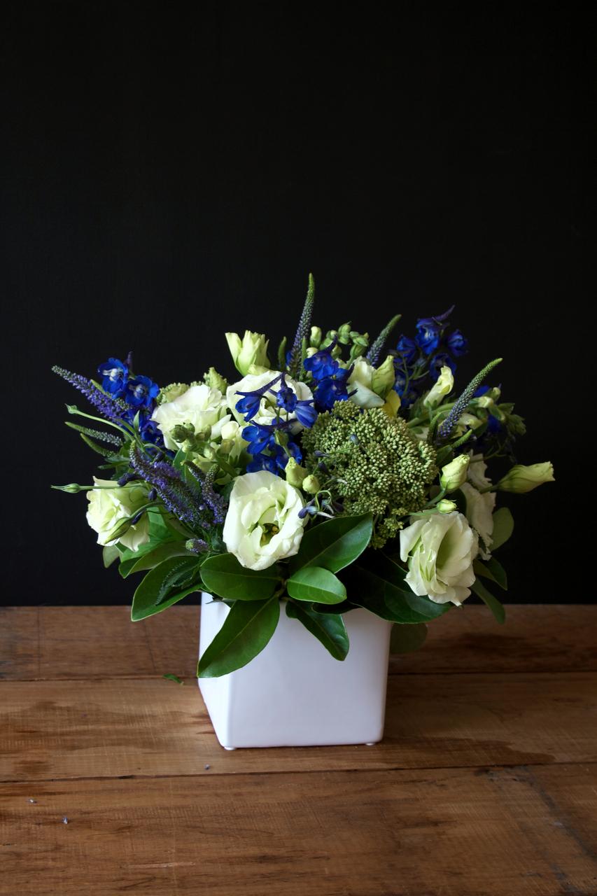 Blues and Whites Flower Arrangement