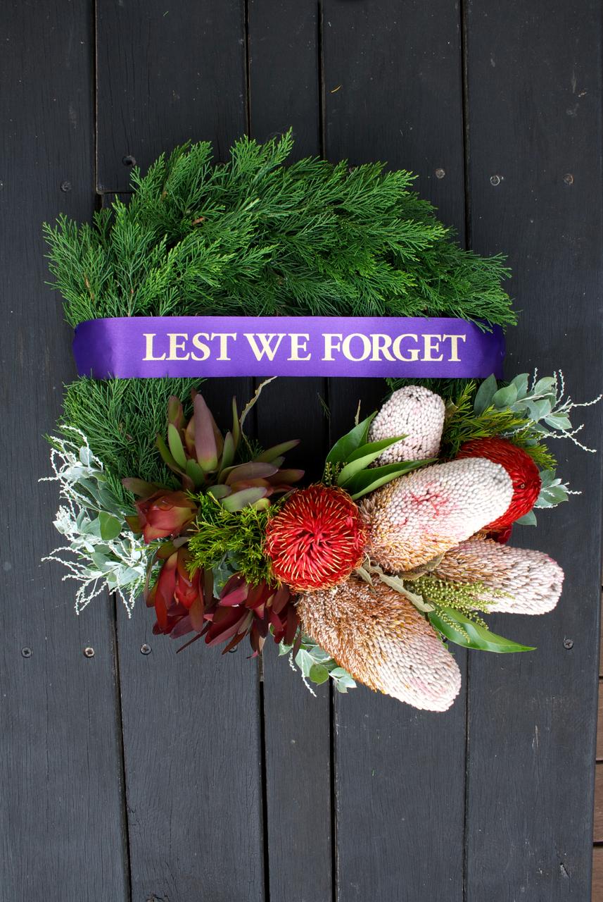 Anzac Day Wreath Native
