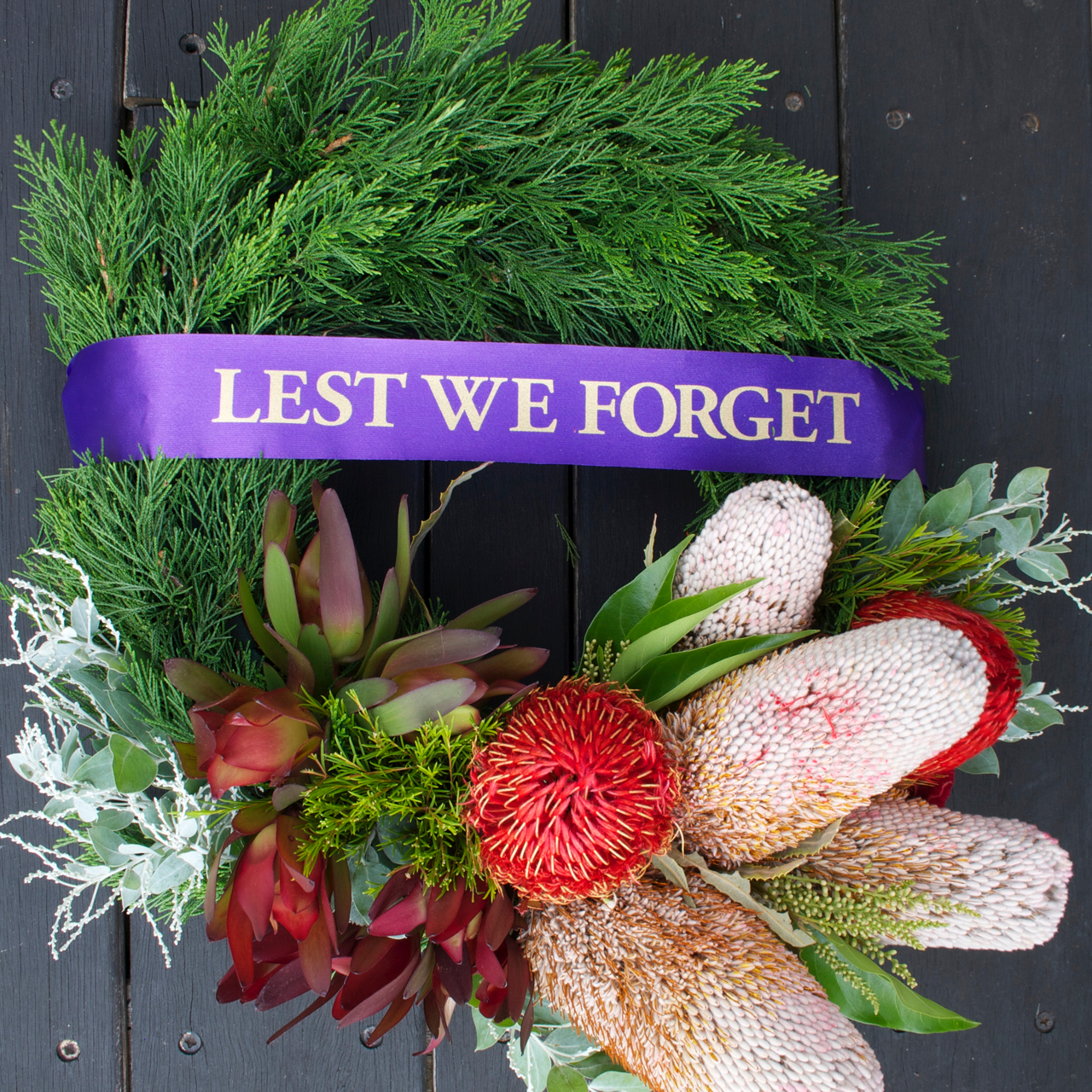 Anzac Day Wreath Native