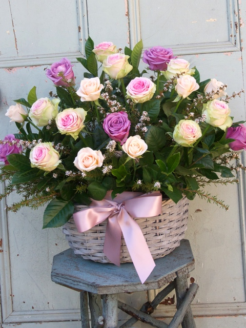 All Occasion Flowers Basket of Roses