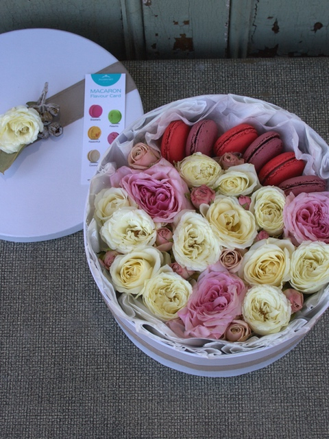 Rose Box and Macarons