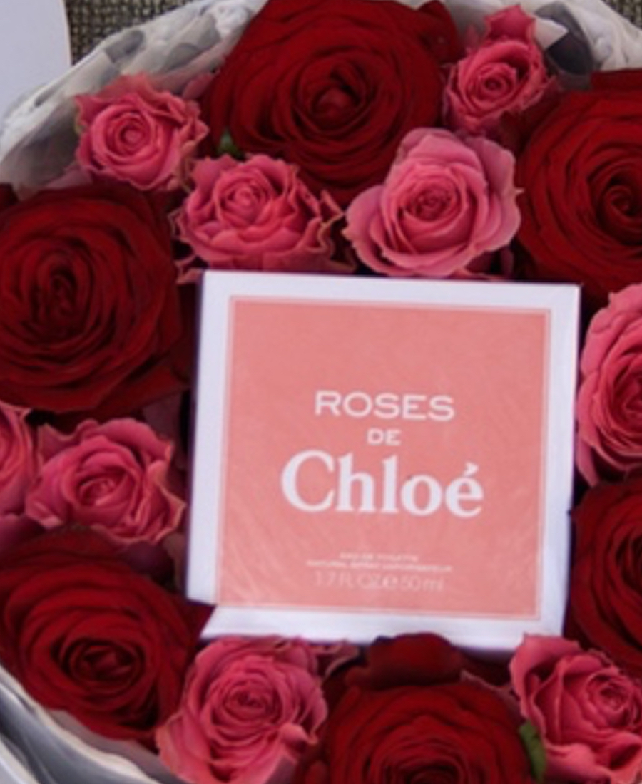 Mother's Day Roses + Chloe Perfume Box