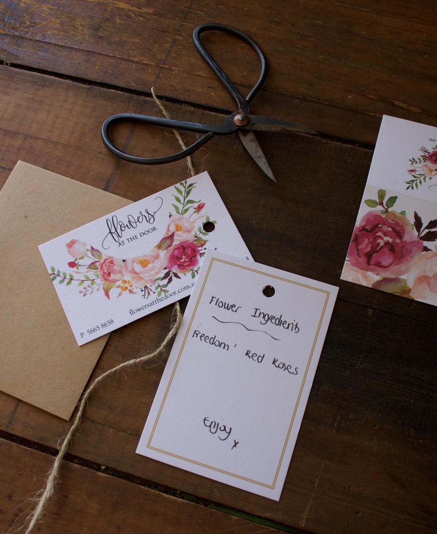 Flowers at the Door Flower Ingredients Card