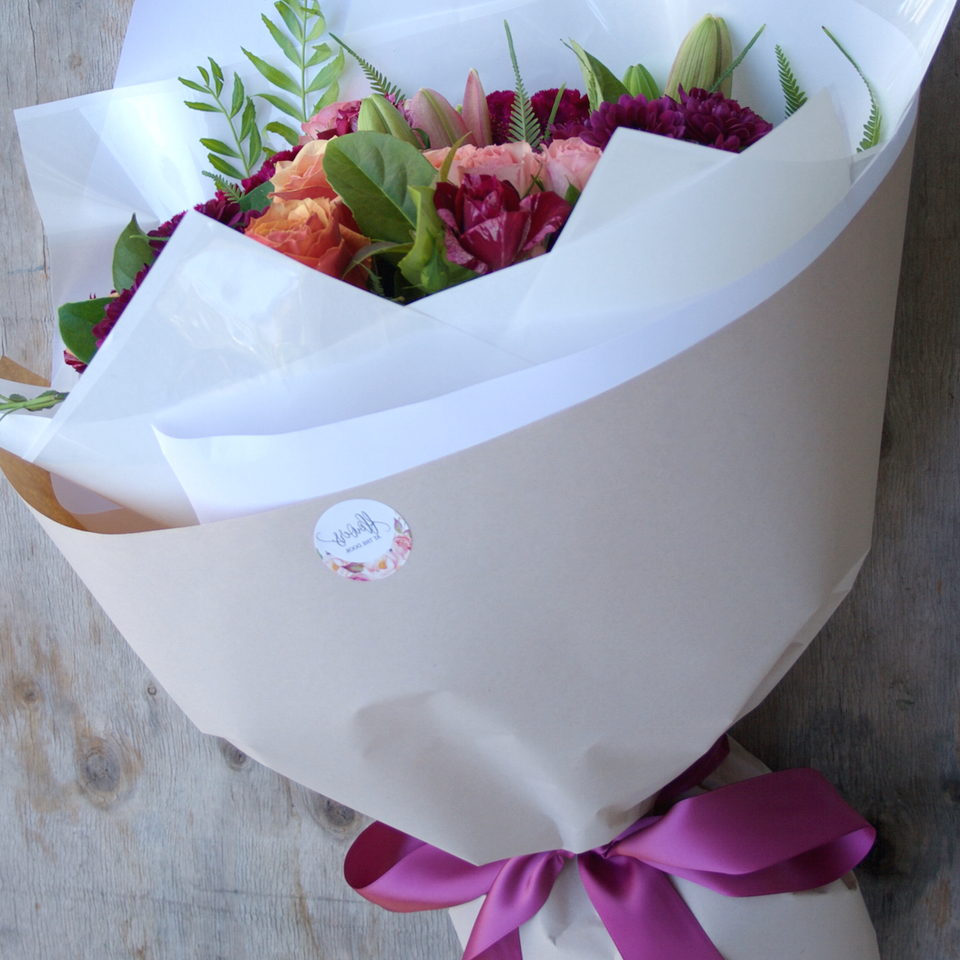 Wrapped Bouquet of Flowers