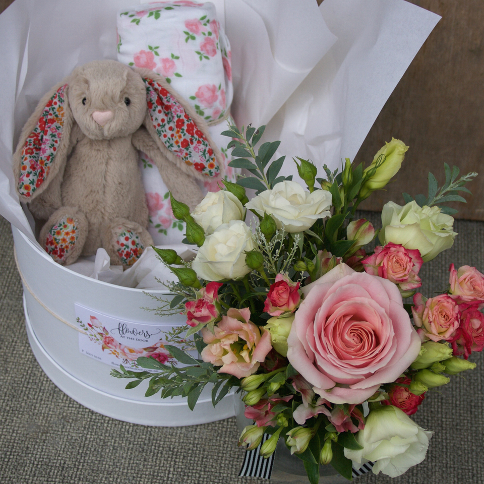 Baby Girl Welcome Box with Blossom Bunny