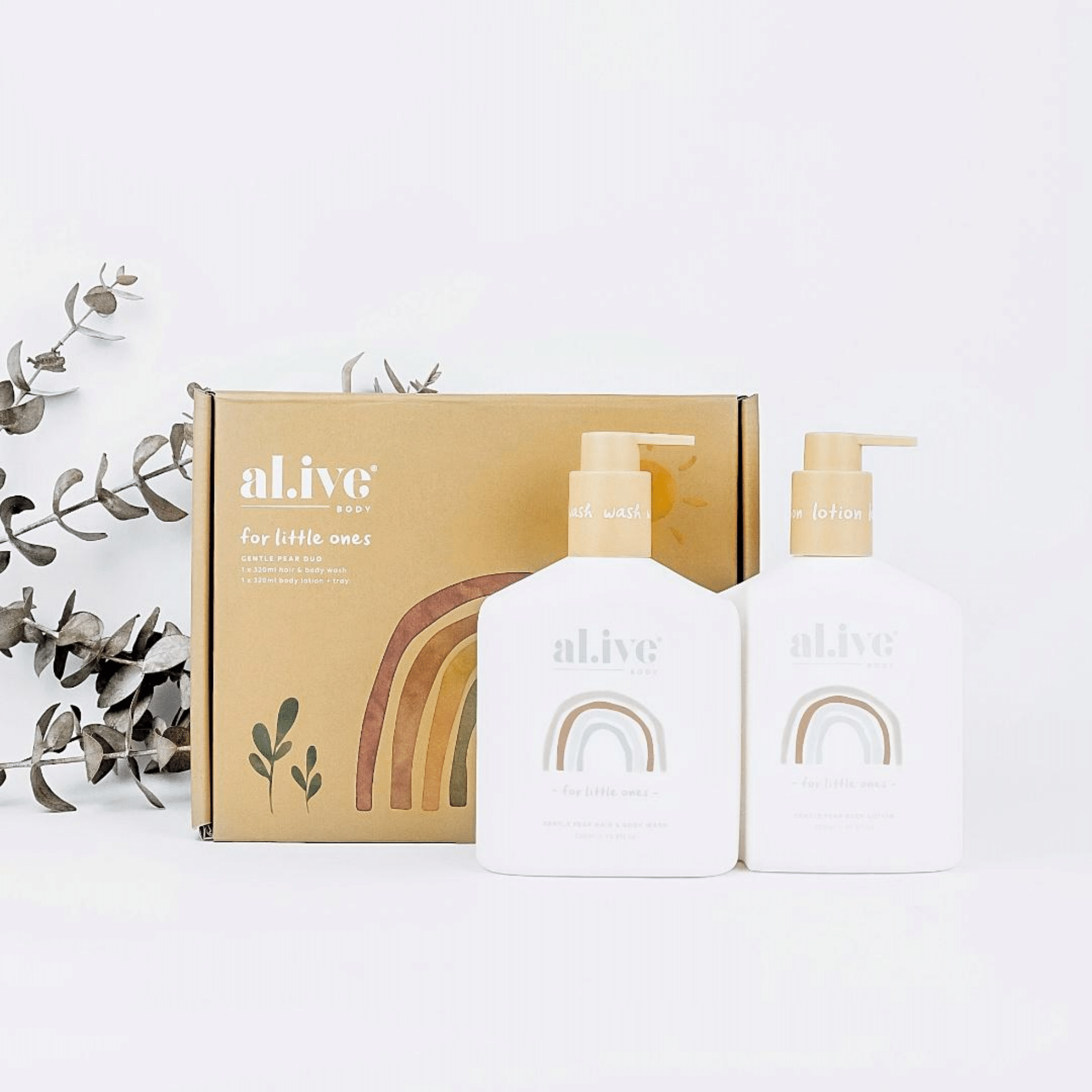 BABY DUO Hair/Body Wash & Lotion + Tray - Gentle Pear