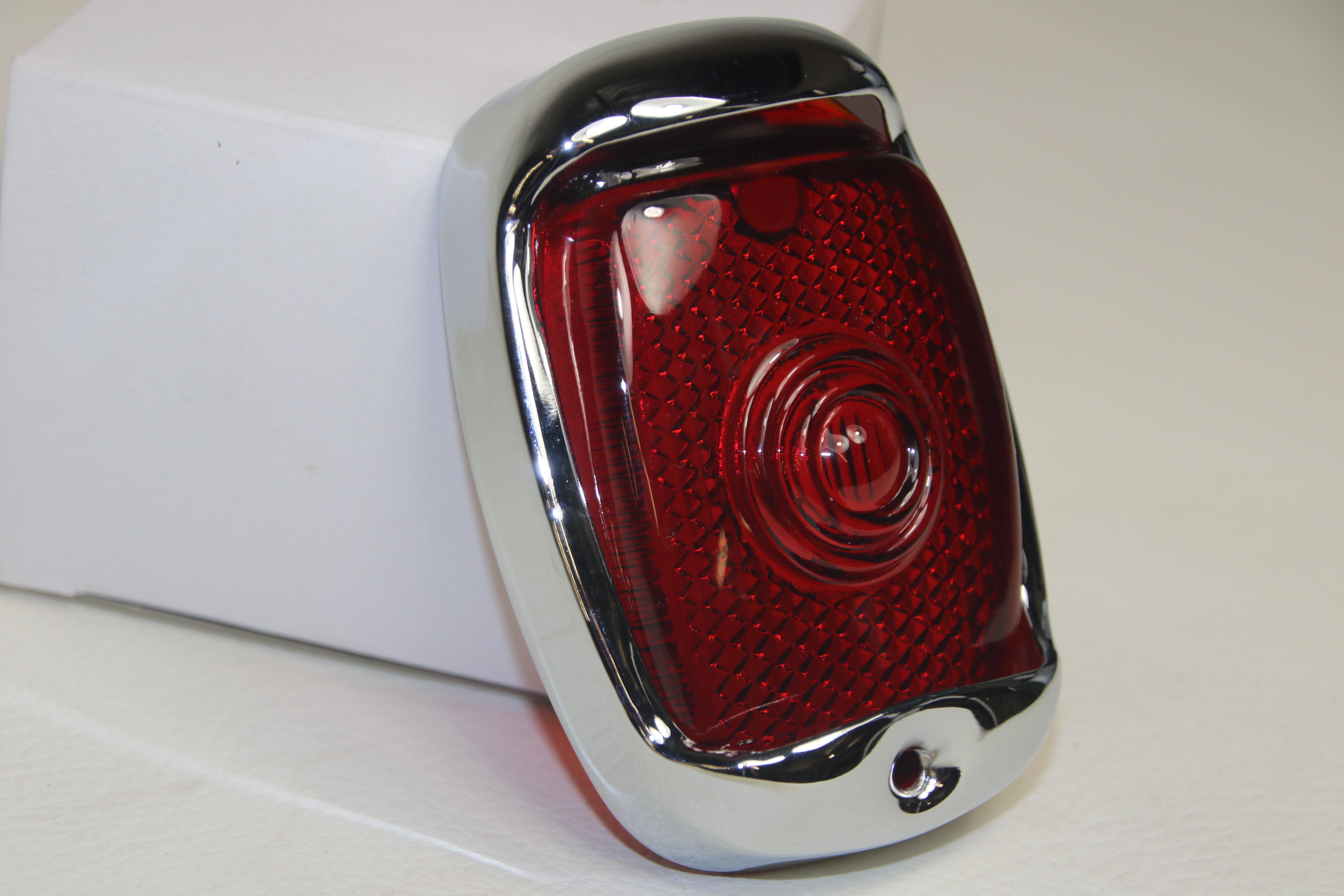 40-53 Chevy GMC Pickup Truck Tail Lamp LED License Plate Frame Light Lens New