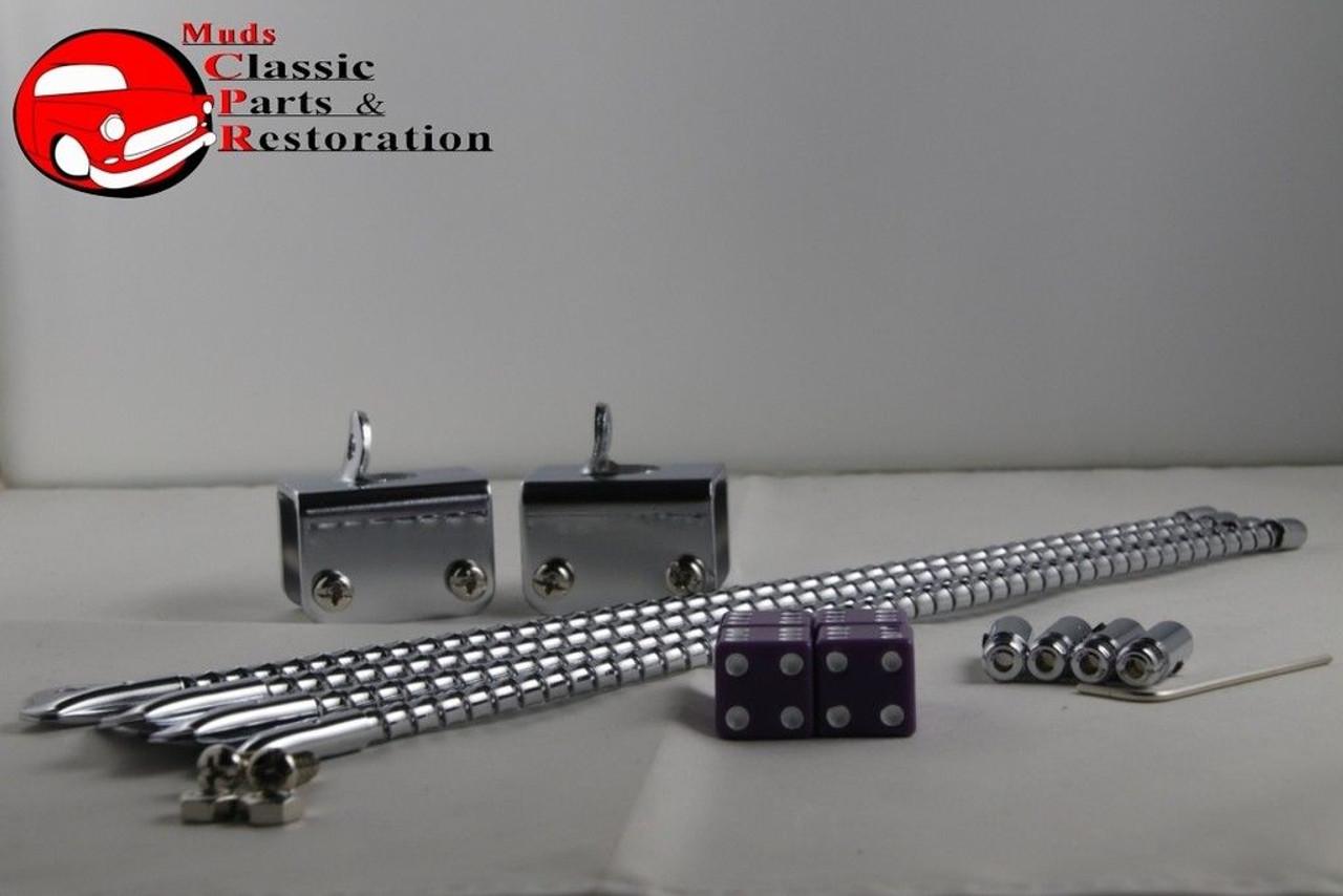 Cat Whisker Custom Curb Feelers Finder Purple Dice Ends Truck Hot Rat  Street Rod