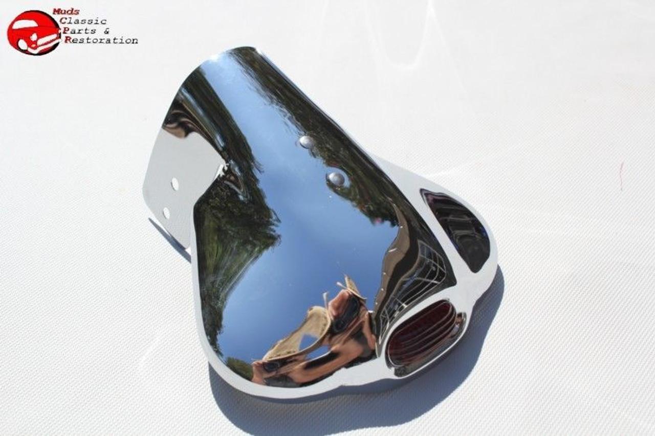 Chrome Clam Shell Tail Pipe Exhaust Deflector Shield Custom Car Truck Hot  Rod