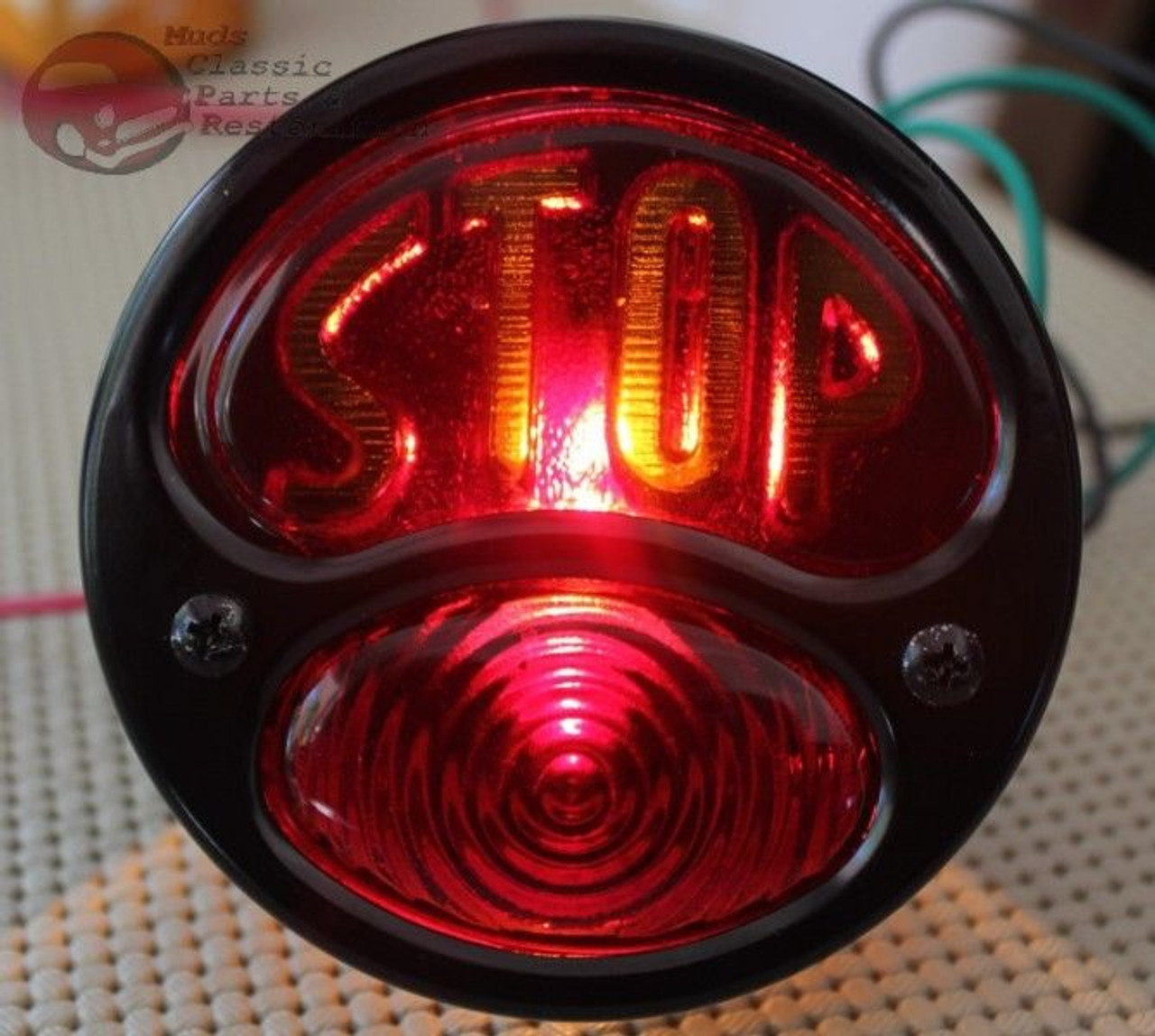 Model A Hot Rat Rod Taillight Lamp Bracket Set Rear Brake Stop Custom Car Truck