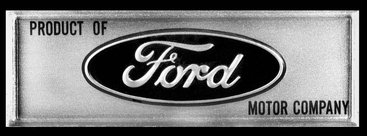 68-77 Bronco 64-66 Mustang Aluminum Door Sill Step Plate Decals Emblems New