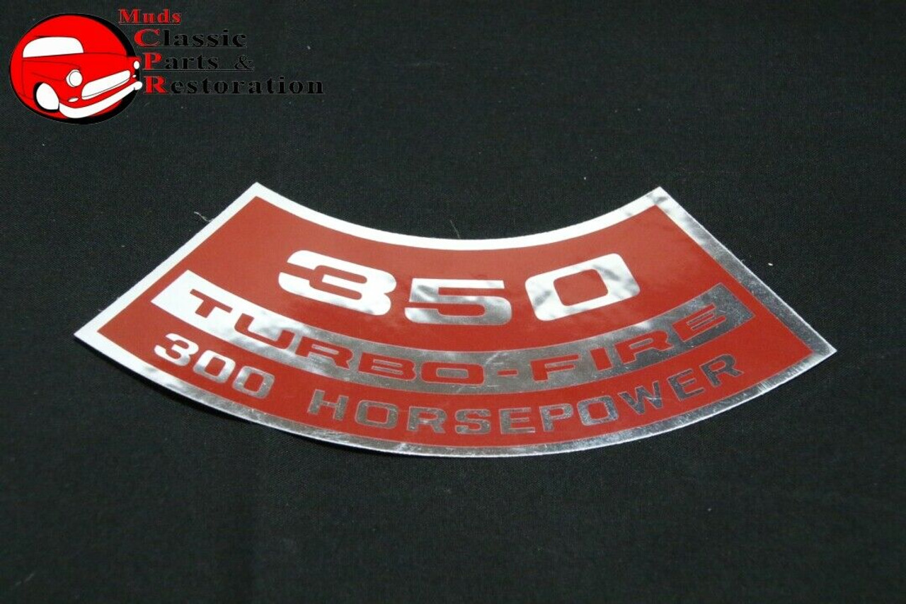 """CHEVY SMALL BLOCK  /""""350/"""" 360 HP  A//C  DECAL"""