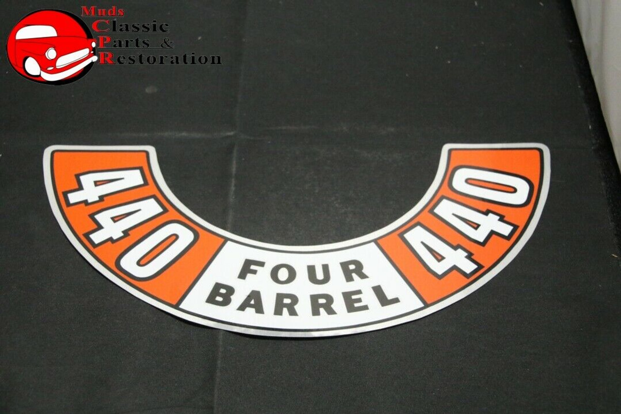 1971 Dodge Plymouth 440 6bbl Emissions Decal 3614877 NEW MoPar USA