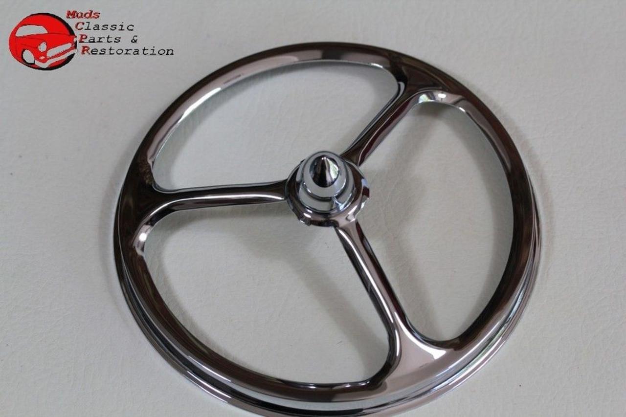 """Chrome Tri Bar w Gem Skull 7/"""" Headlight Ring Cover for Harley Head Light Lamp"""