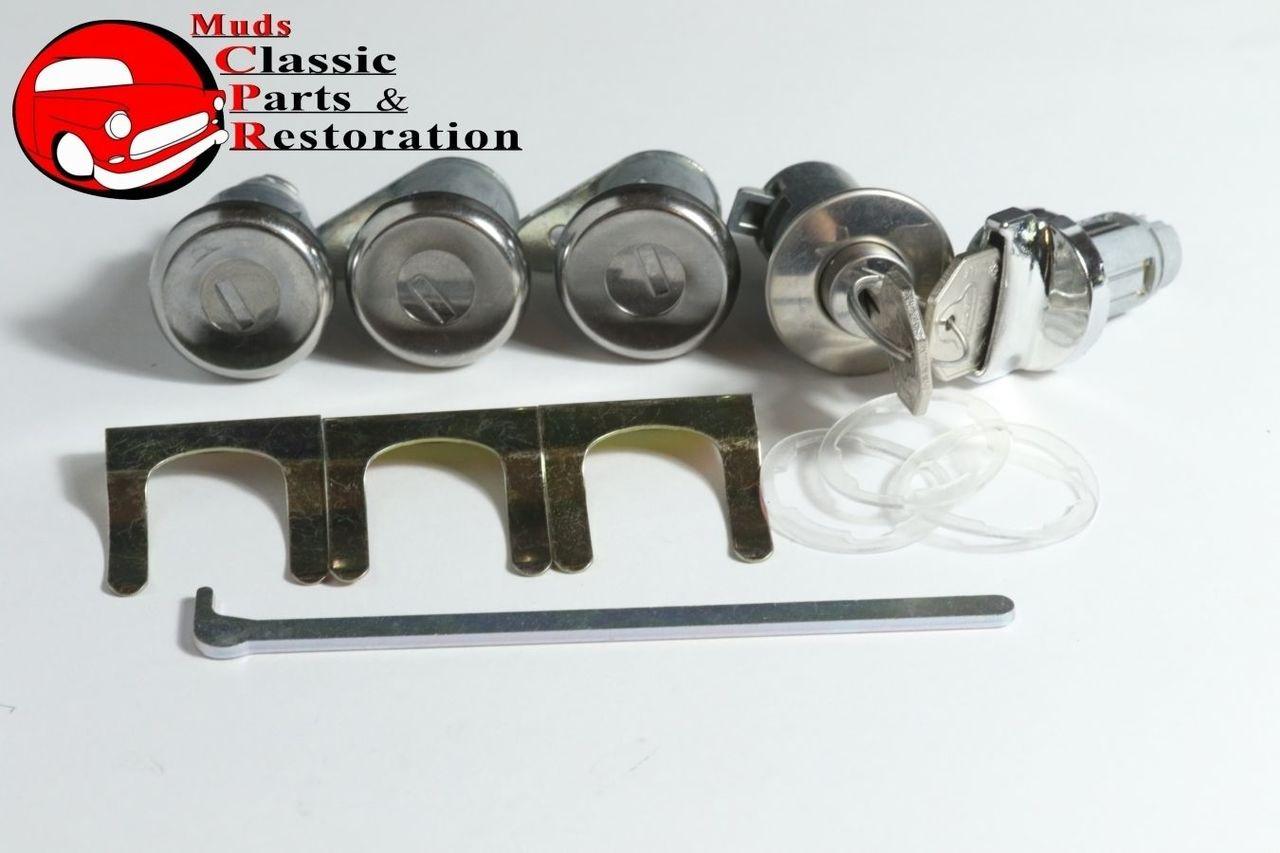 /& pawl Original GM Keys 63 Impala Locks Ignition Door Glovebox Trunk short cyl