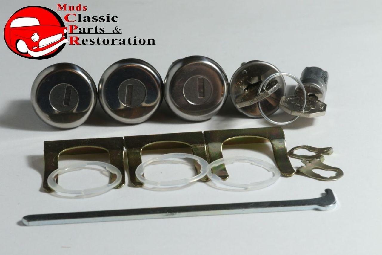 66 Chevelle Locks Ignition Door Glovebox & Trunk Original OEM GM Logo Keys