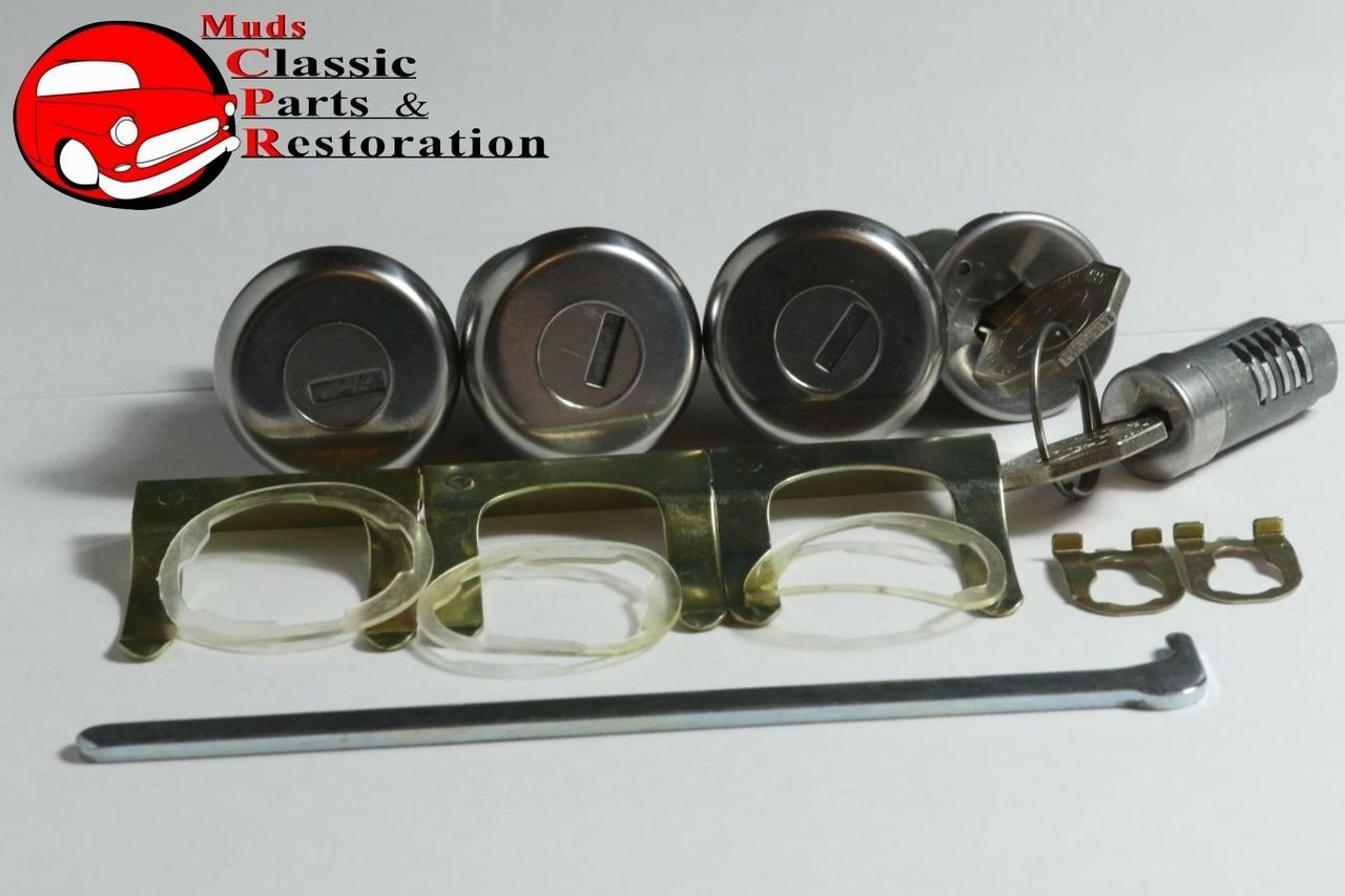 67 Chevelle Locks, Ignition, Door, Glovebox & Trunk Original OEM GM Logo  Keys