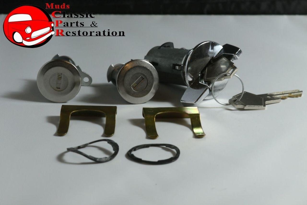 72-85 Chrylser Dodge Plymouth Ignition Door Lock Kit Original Key w//o Tilt Tele