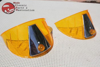 Custom Car Truck Hot Rod Amber Plastic Headlight Lamp Bulb Cover Visor Exterior