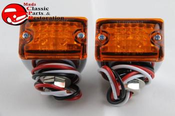 Custom Mini Led Lights Amber Park Turn Signal Clearance Marker Truck Hot Rod