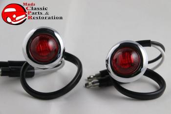 Custom Mini Red Led 0Ccent Clearance Marker Lights Truck Hot Rat Street Rod