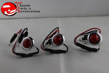 Dual Function Mini Red Stainless Turn Stop Tail Lamp Lights Truck Hot Rat Rod