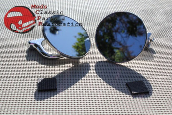 """Ford Chevy Chrysler Dodge Plymouth 4"""" Curved Arm Peep Mirrors Hot Rat Street Rod"""