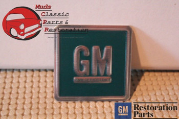 Gm Chevy Mark Of Excellence Door Jamb Reflector Decal Turquoise Green Embossed