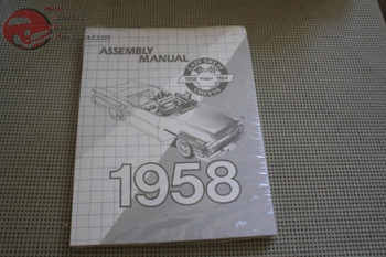 Late Great Chevys 58 Chevy Impala Bel Air Passenger Fullsize Car Assembly Manual