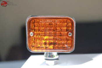 Large Chrome Amber Rod Utility Marker Accent Light Hot Rat Rod Boat Truck Outer