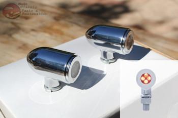 Amber Dash Utility Accent Light Chrome Bezel Hot Rat Rod Custom Car Pickup Truck