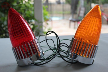Pair Red Amber Cadillac Style Tail Lights Lamp Custom Truck Hot Rat Street Rod