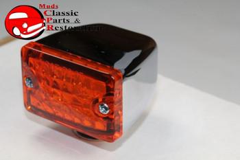 Small Amber Led Rod Light Running Marker Turn Signal Custom Truck Hot Rat Rod
