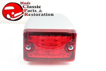 Small Red Led Rod Light Tail Turn Stop Brake Turn Signal Custom Truck Hot Rod