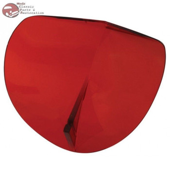 Vintage Style Bi Flector Hood Molding Accessory Wind Air Bug Deflector Red New