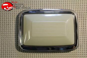 68-70 Chevelle Chrome Dome Light Lamp Base & Lens New