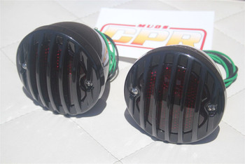 Custom Hot Rod Truck Tail Light Lamps Duolamp Black Grill Bezel Right Hand Set