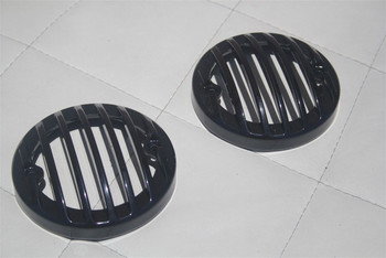 33-36 Ford Tail Light Lamp Lens Rim Grill Bezel Black Hot Rat Rod Truck Pair