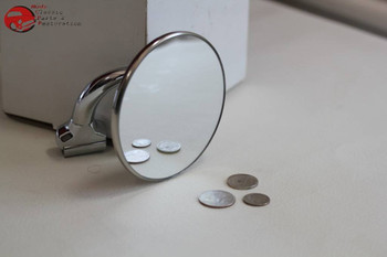 """3"""" Curved Arm Rearview Outside Side Door Peep Mirror Convex Classic Car Truck"""
