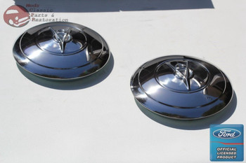 1935 Ford 4 Cylinder Car Pickup Truck Stainless Hub Caps Ford Script Pair New